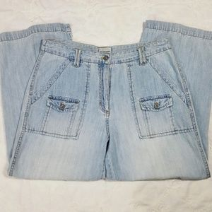 Chico's light wash carpenter capris size 1 (8)